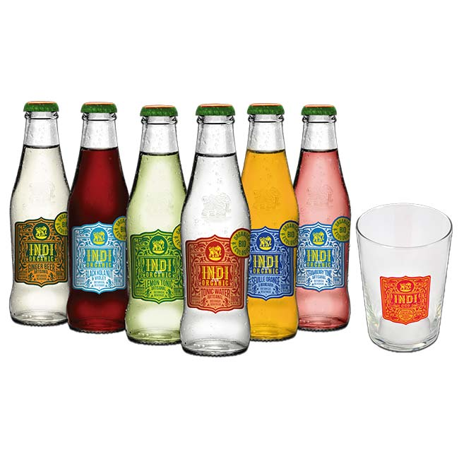 Caja Degustación Indi&Co Organic + Vasos