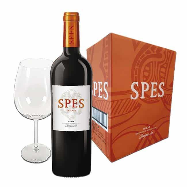 Vino Tinto D.O. Rioja Spes 2014 copa